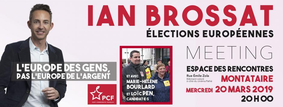20 mars, Montataire - Meeting Européennes 2019, avec Ian Brossat, Marie-Hélène Bourlard et Loïc Pen