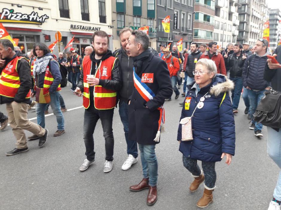 Manifestation européenne contre le dumping social dans le transport - Bruxelles, 27 mars 2019