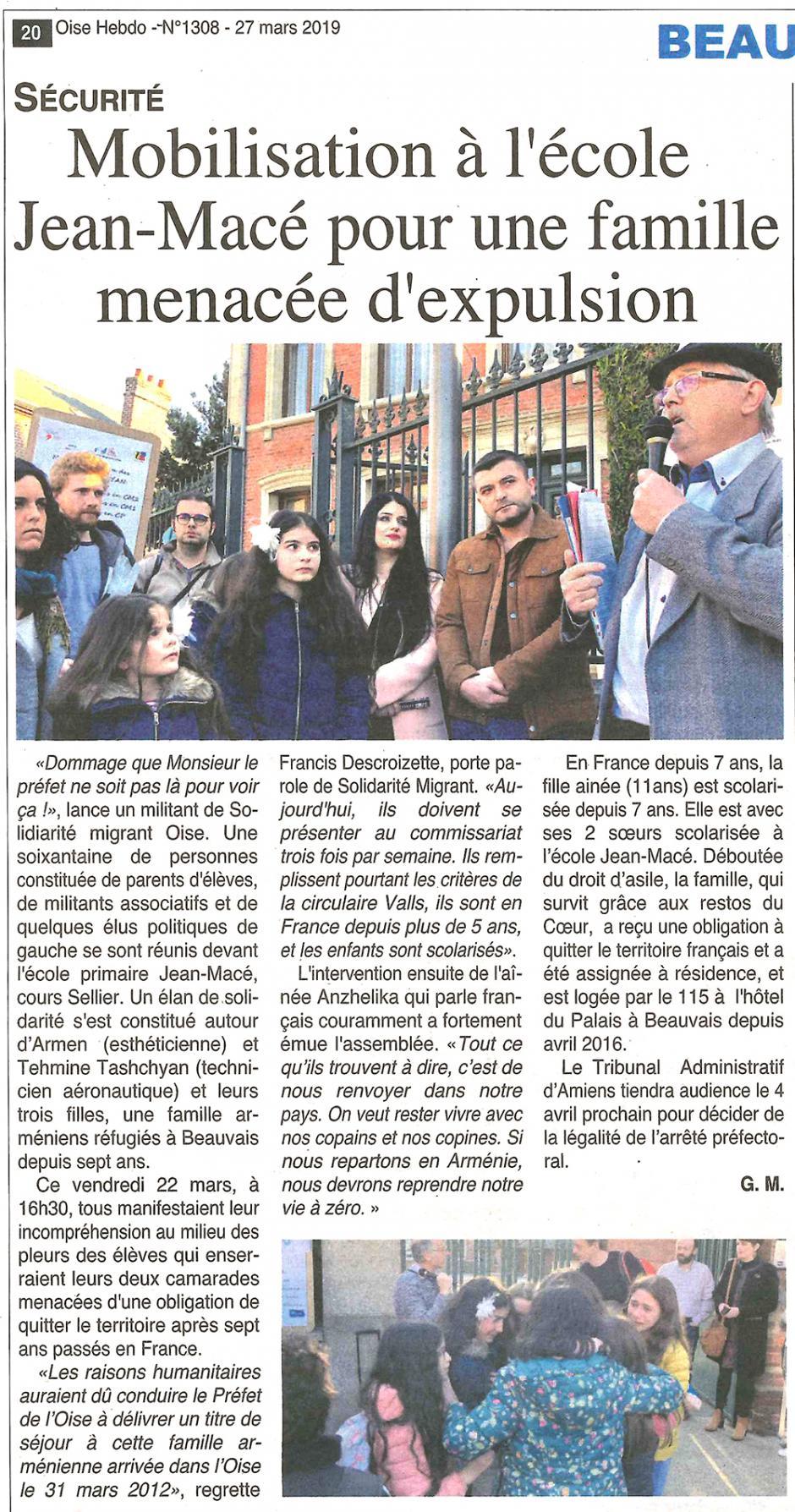 20190327-OH-Beauvais-Mobilisation à l'école Jean-Macé pour une famille menacée d'expulsion