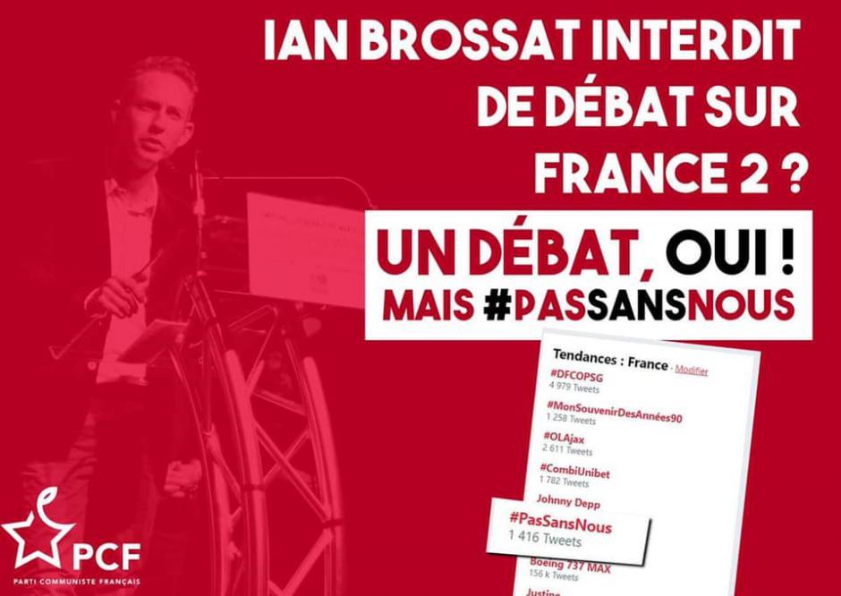ANNULATION - 19 mars, Paris - Rassemblement « Débat sur les Européennes : #PasSansNous »