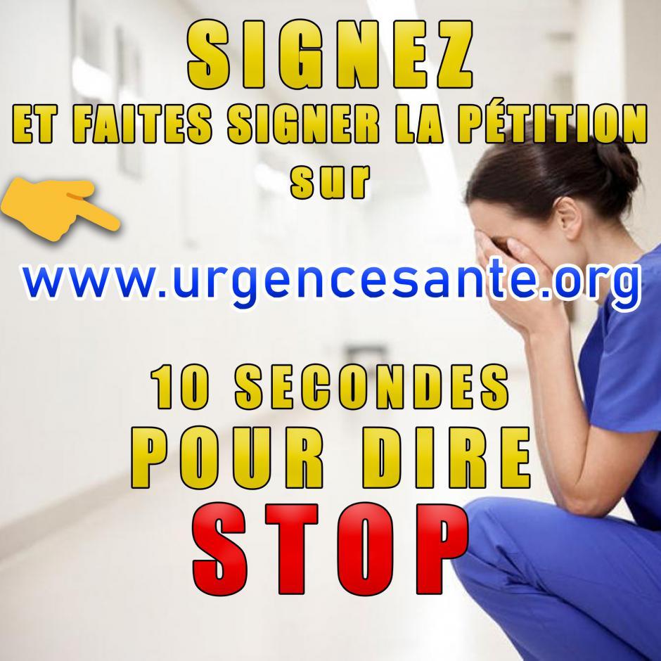 « Urgence Santé : stop aux fermetures ! » : soyons 1 million de signataires !