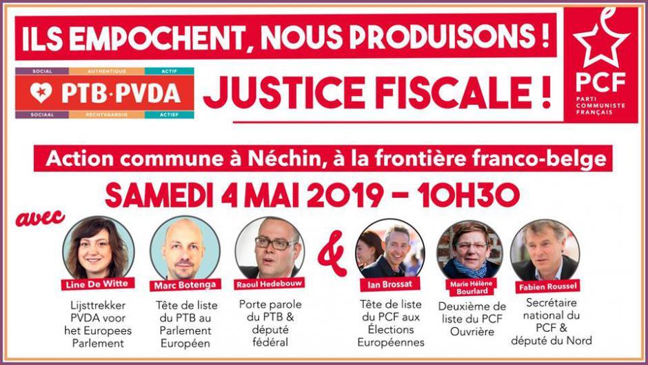 4 mai, Néchin - Allons « faire la fête » aux évadés fiscaux