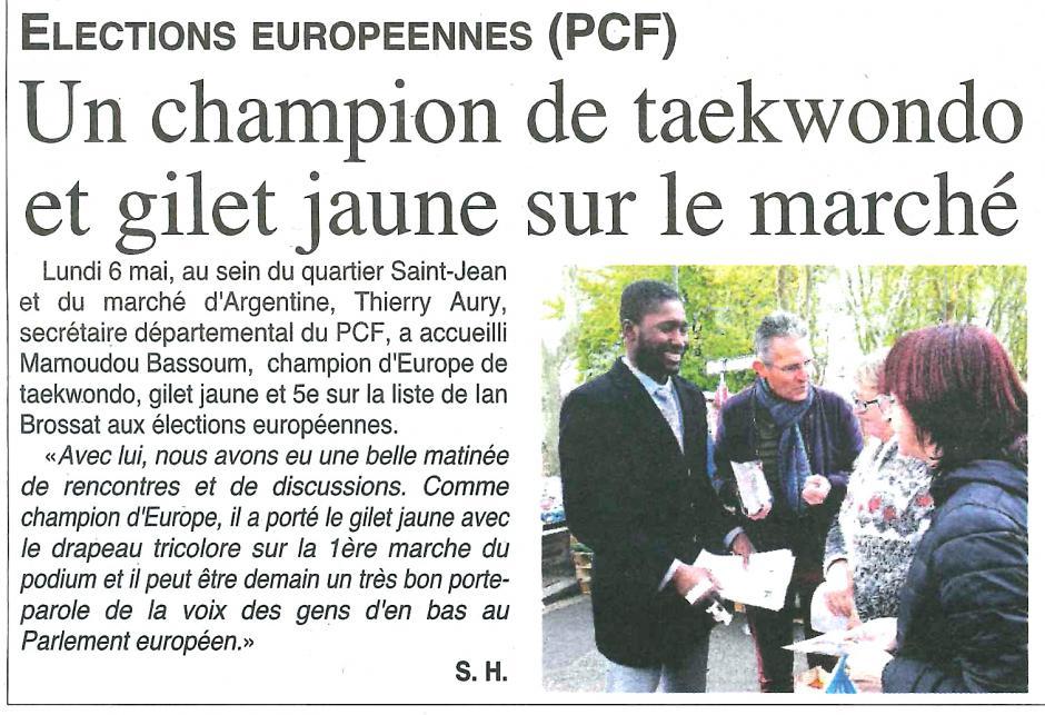 20190508-OH-Beauvais-E2019-Un champion de taekwondo et gilet jaune sur le marché
