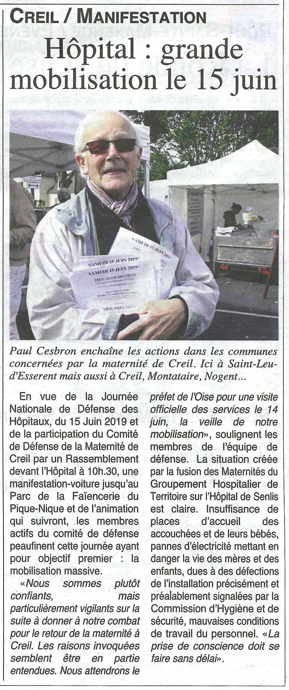 20190612-OH-Creil-Hôpital : grande mobilisation le 15 juin