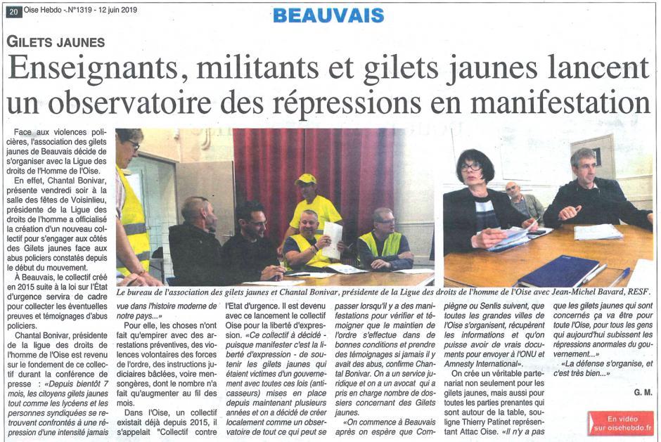 20190612-OH-Oise-Enseignants, militants et gilets jaunes lancent un observatoire des répressions en manifestation