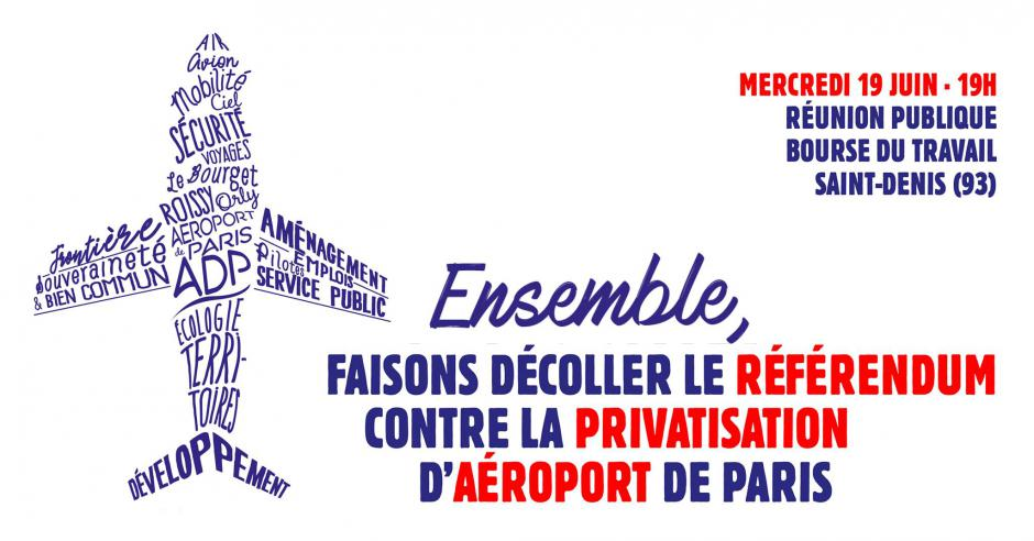 19 juin, Saint-Denis - Faisons décoller le referendum contre la privatisation d'ADP