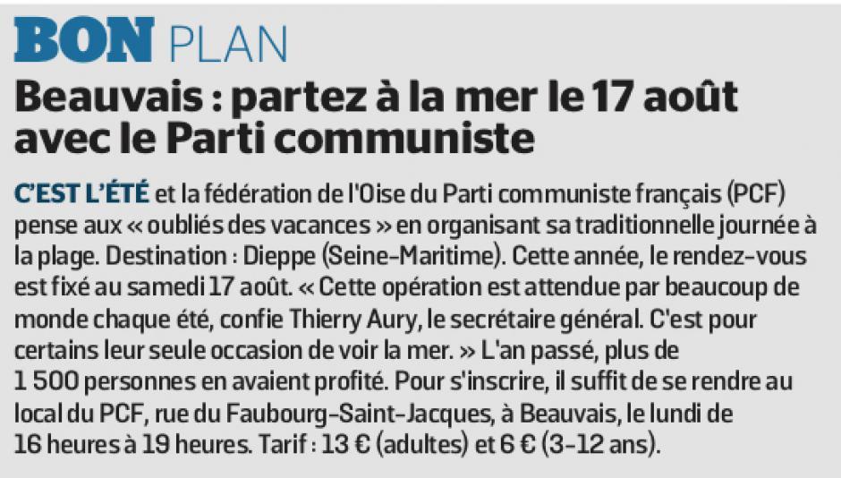 20190704-LeP-Beauvais-Bon plan : partez à la mer le 17 août avec le Parti communiste