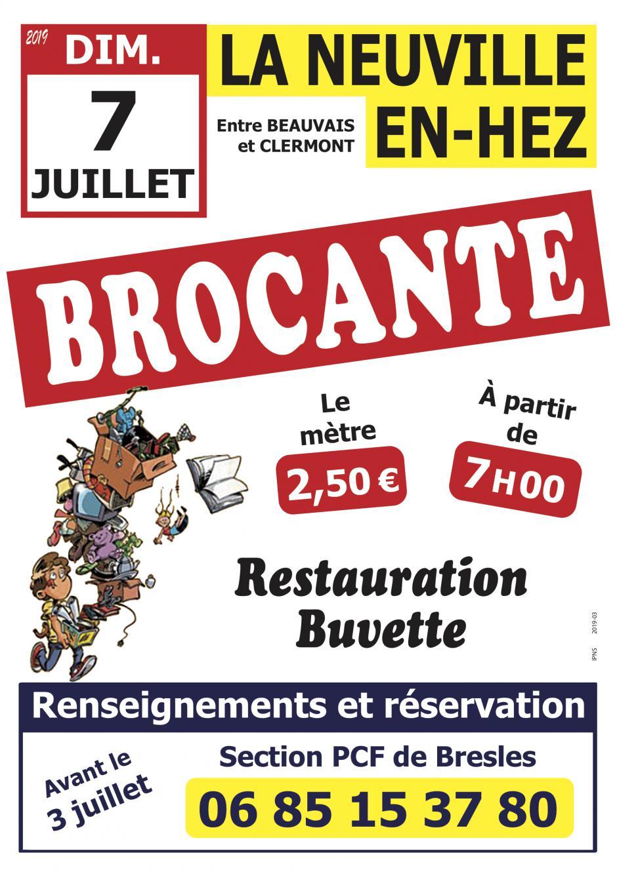 7 juillet, La Neuville-en-Hez - Brocante de la section de Bresles
