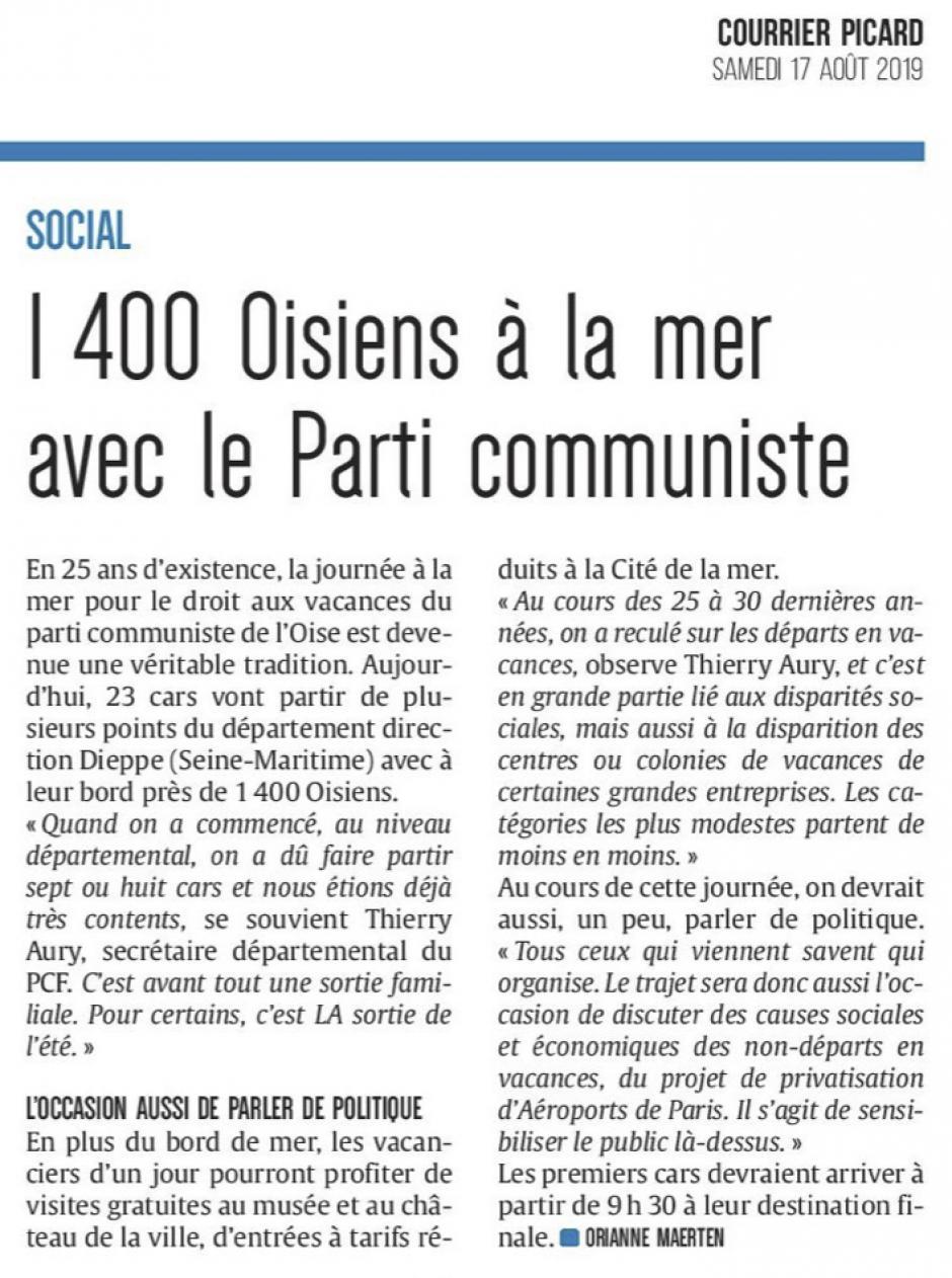 20190817-CP-Oise-1 400 Oisiens à la mer avec le Parti communiste
