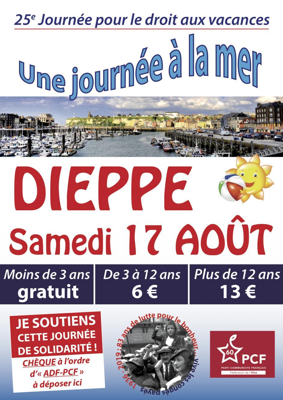 17 août, Dieppe - 25e journée à la mer pour le droit aux vacances