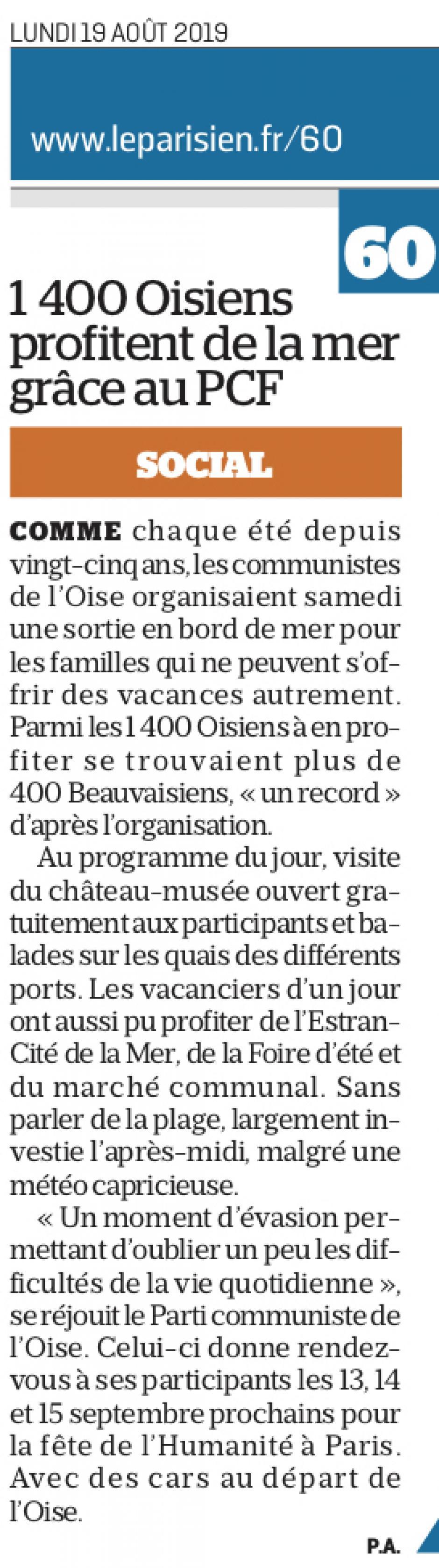 20190819-LeP-Dieppe-1 400 Oisiens profitent de la mer grâce au PCF