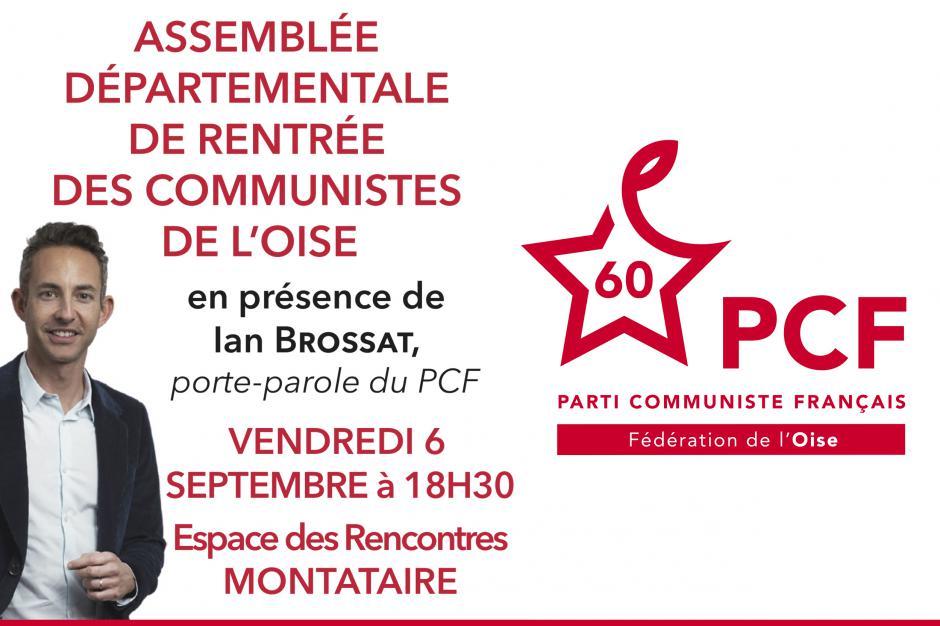 6 septembre, Montataire - Assemblée départementale de rentrée des communistes