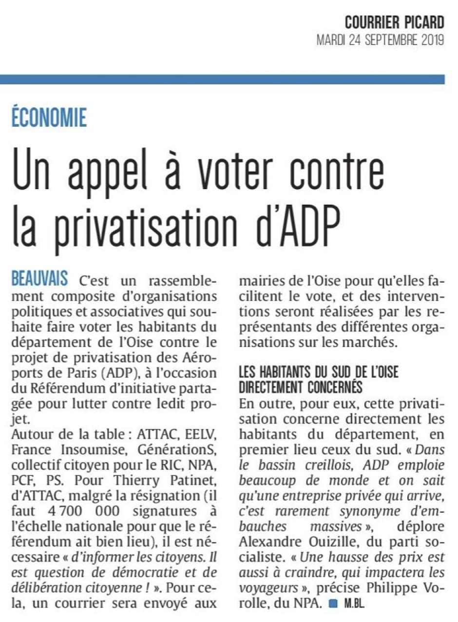 20190924-CP-Oise-Un appel à voter contre la privatisation d'ADP