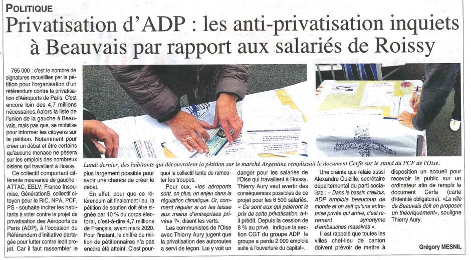 20191002-OH-Beauvais-Privatisation d'ADP : les anti-privatisation inquiets par rapport aux salariés de Roissy