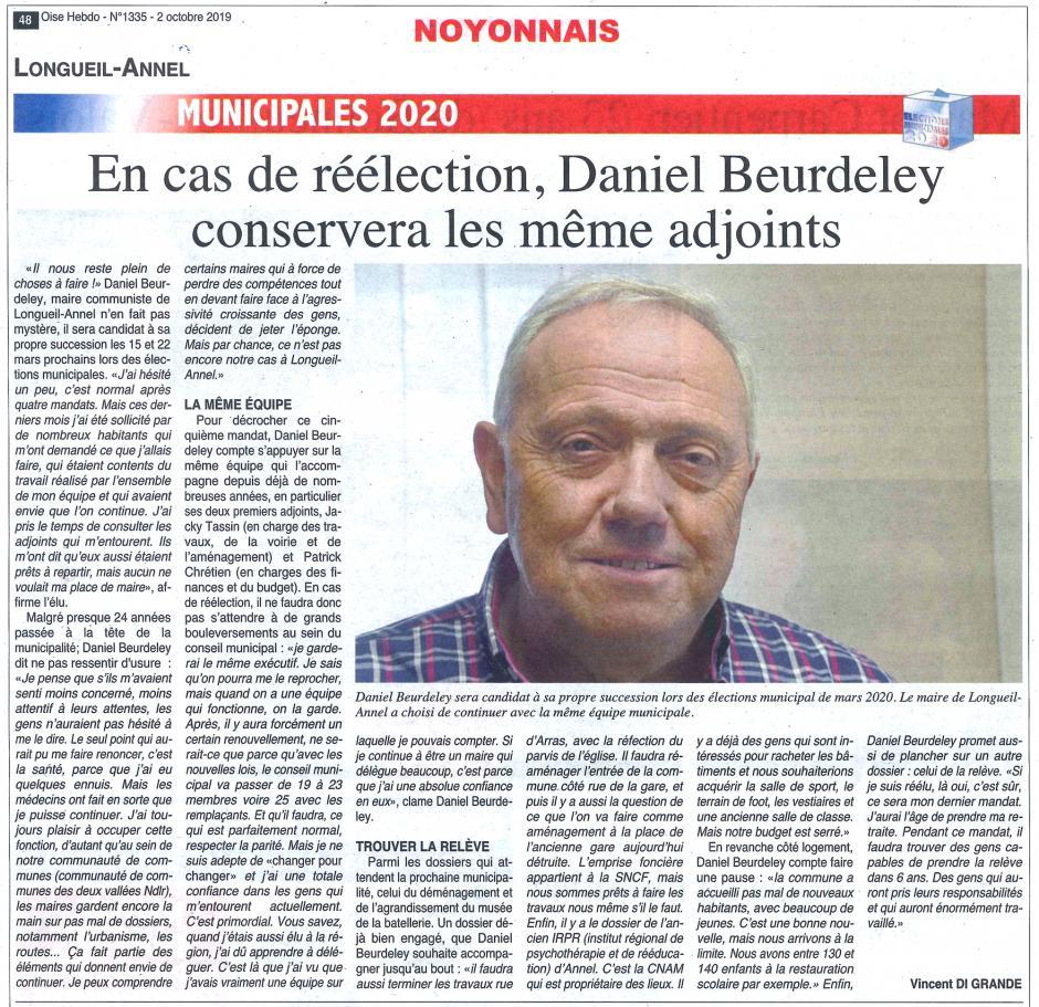 20191002-OH-Longueil-Annel-M2020-En cas de réélection, Daniel Beurdeley conservera les mêmes adjoints