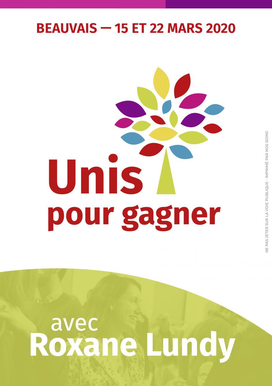 Flyer « Unis pour gagner » - Municipales 2020 à Beauvais, 12 octobre 2019