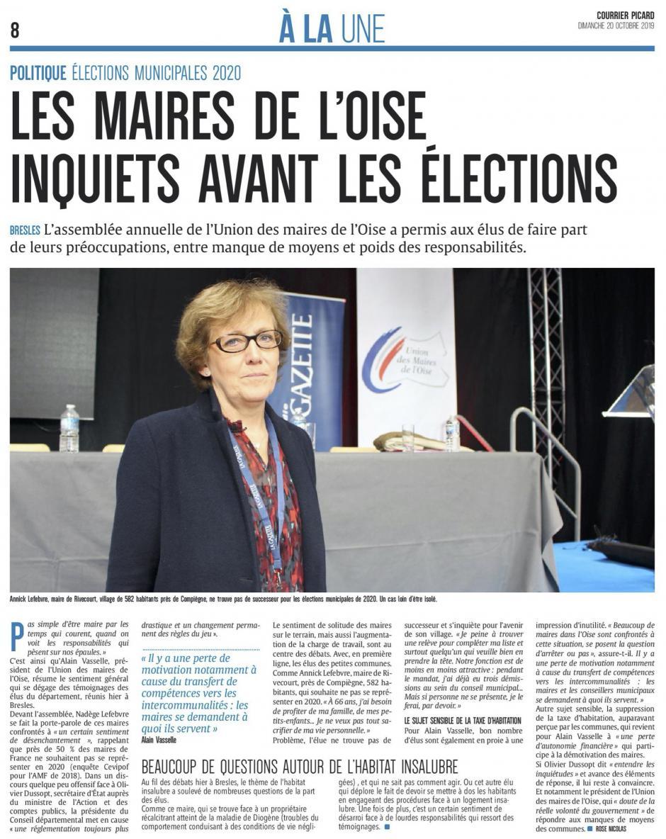 20191020-CP-Bresles-Les maires de l'Oise inquiets avant les élections