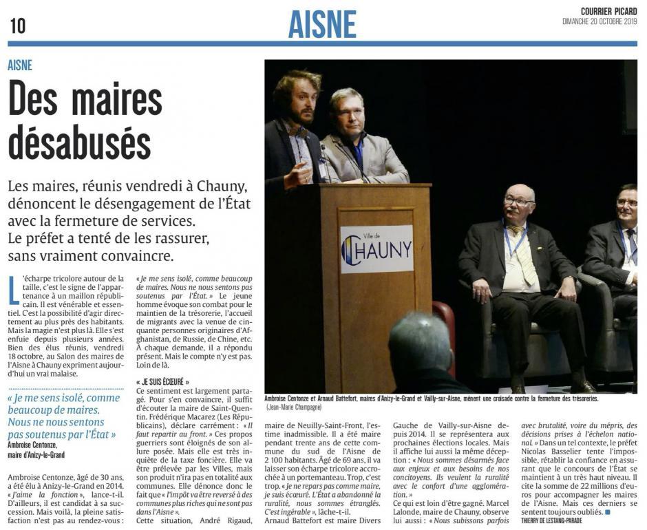 20191020-CP-Chauny-Des maires désabusés [édition Aisne]