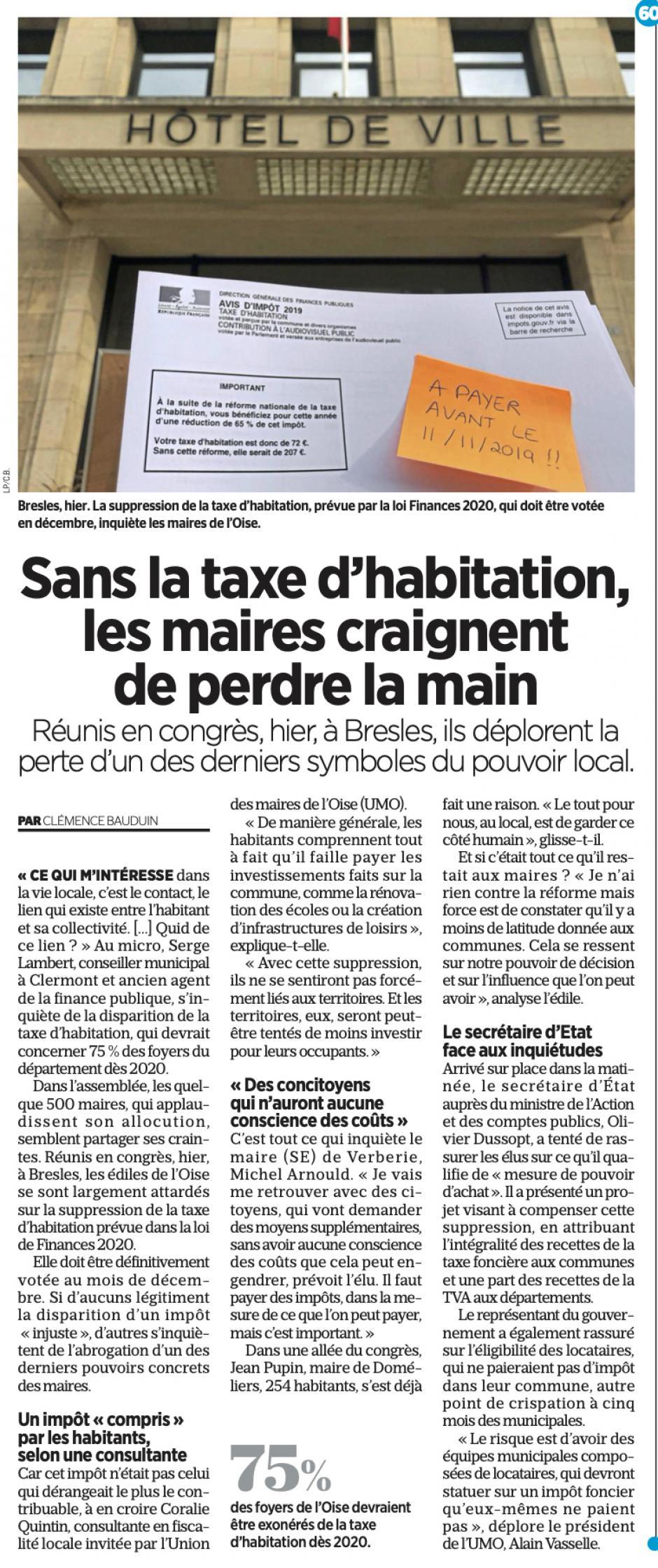 20191020-LeP-Bresles-Sans la taxe d'habitation, les maires craignent de perdre la main