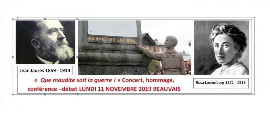 11 novembre, Beauvais - PCF Beauvaisis-Hommage aux combattants de la Paix « 11 novembre : la fin d'une boucherie »