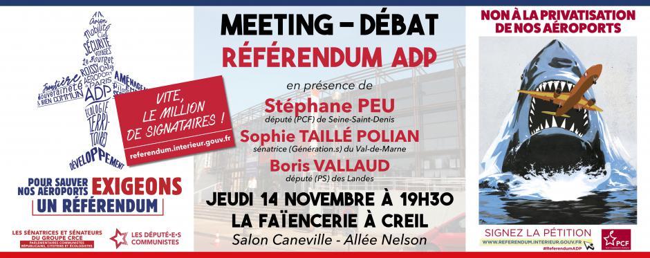 14 novembre, Creil - Meeting pour un référendum sur ADP