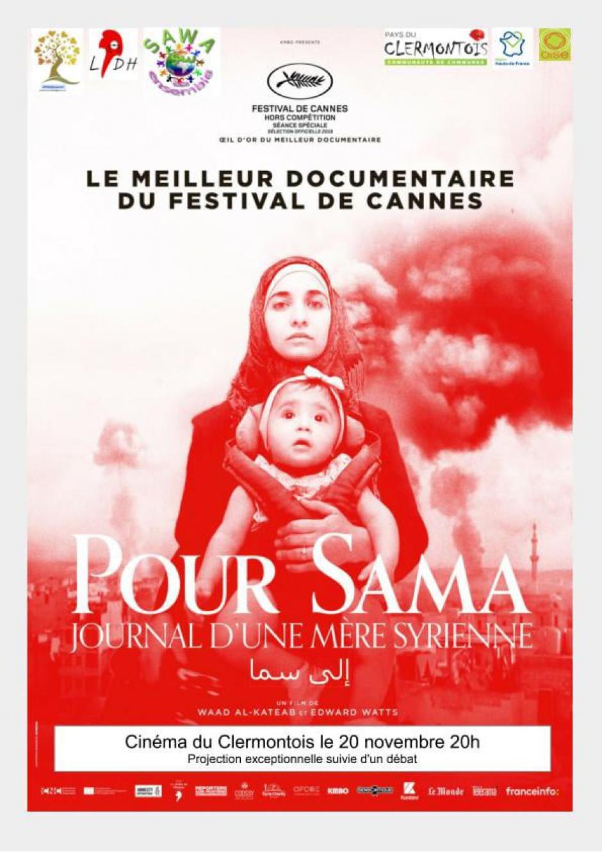 20 novembre, Clermont - Projection-débat « Pour Sama, journal d'une mère syrienne »