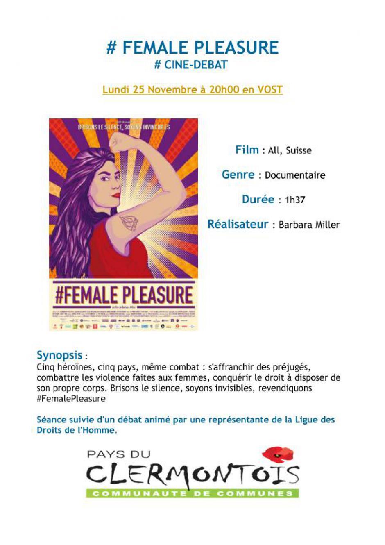 25 novembre, Clermont - LDH-Ciné-débat « #Female Pleasure »