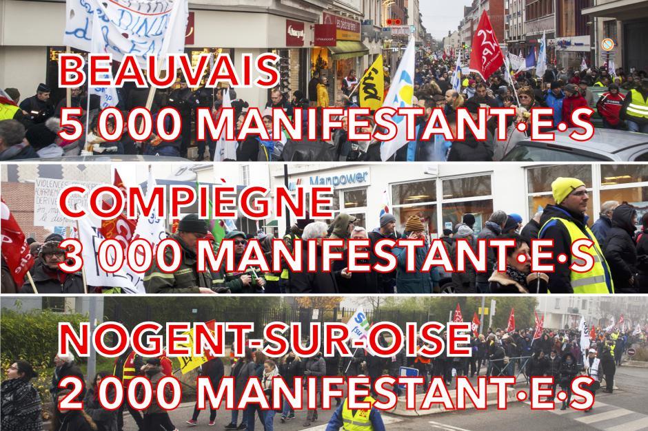 Retraites : exceptionnelle mobilisation pour le retrait du projet Macron ! - Oise, 5 décembre 2019
