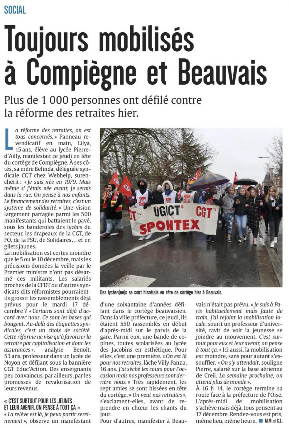 20191213-CP-Oise-Toujours mobilisés à Compiègne et Beauvais