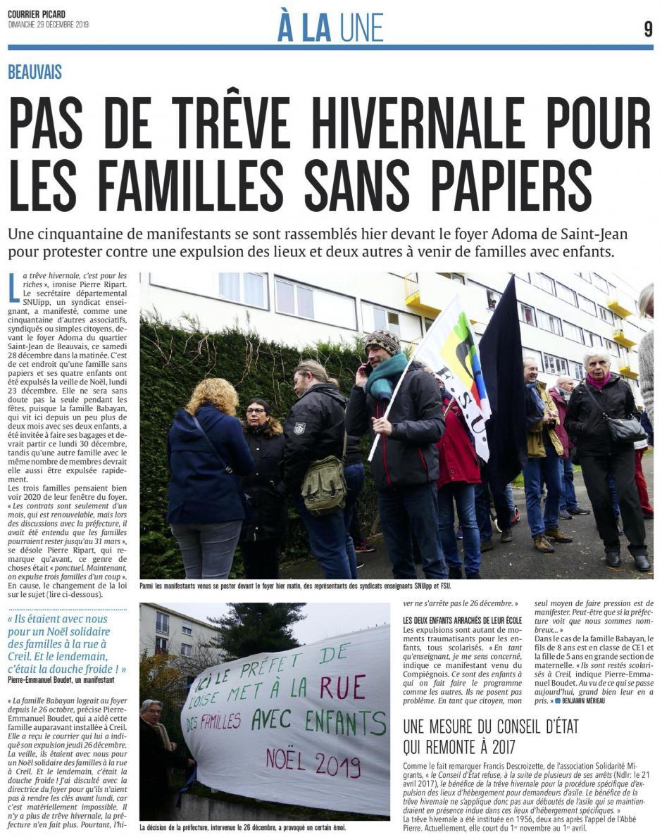 20191229-CP-Beauvais-Pas de trêve hivernale pour les familles sans papiers