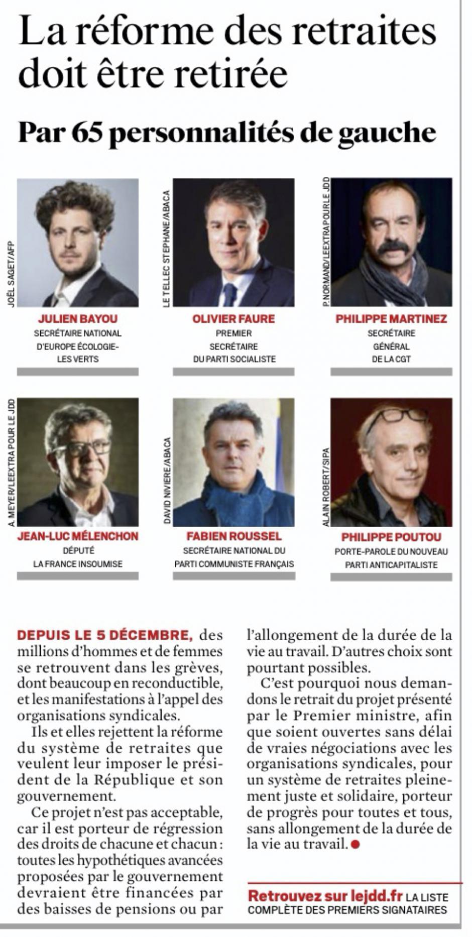 20200105-LeJDD-France-La réforme des retraites doit être retirée
