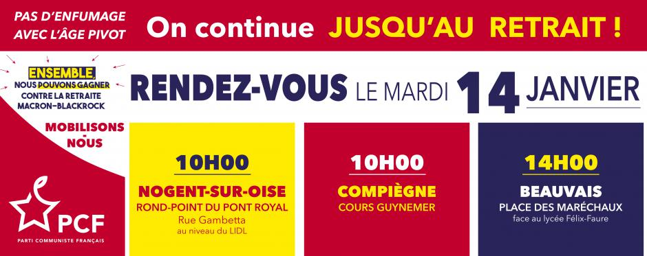 14 janvier, France - Journée de grève et de convergence interprofessionnelle