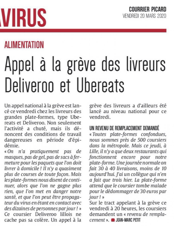 20200320-CP-Lille-Appel à la grève des livreurs Deliveroo et Ubereats