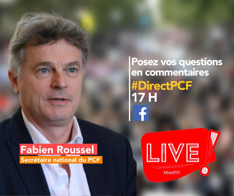 #directPCF avec Fabien Roussel, député, secrétaire national du PCF - 15 avril 2020