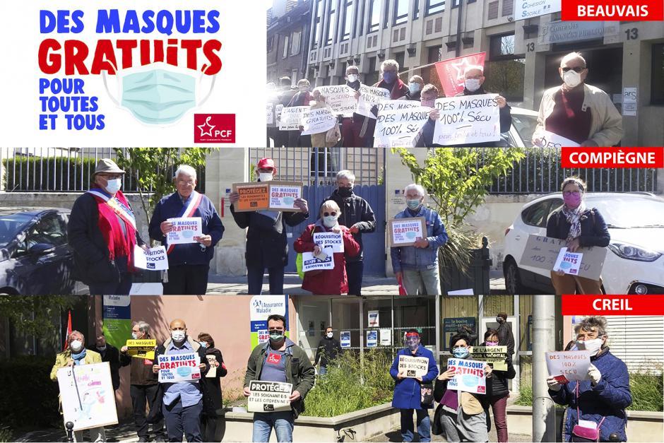 Pour la protection sanitaire maximum des populations : gratuité des masques et prise en charge par la Sécurité sociale - Oise, 14 mai 2020