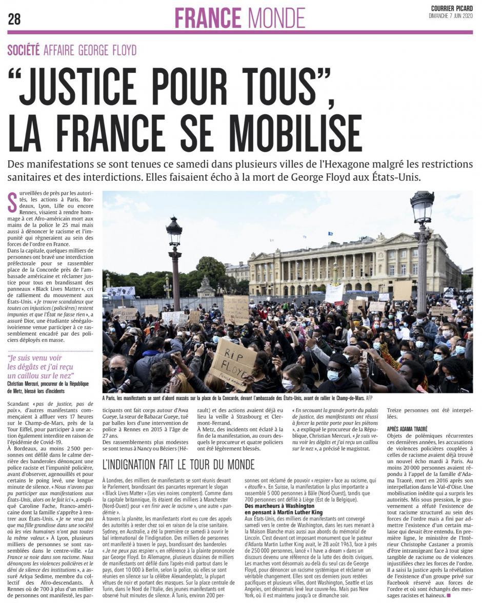 20200607-CP-France-« Justice pour tous », la France se mobilise
