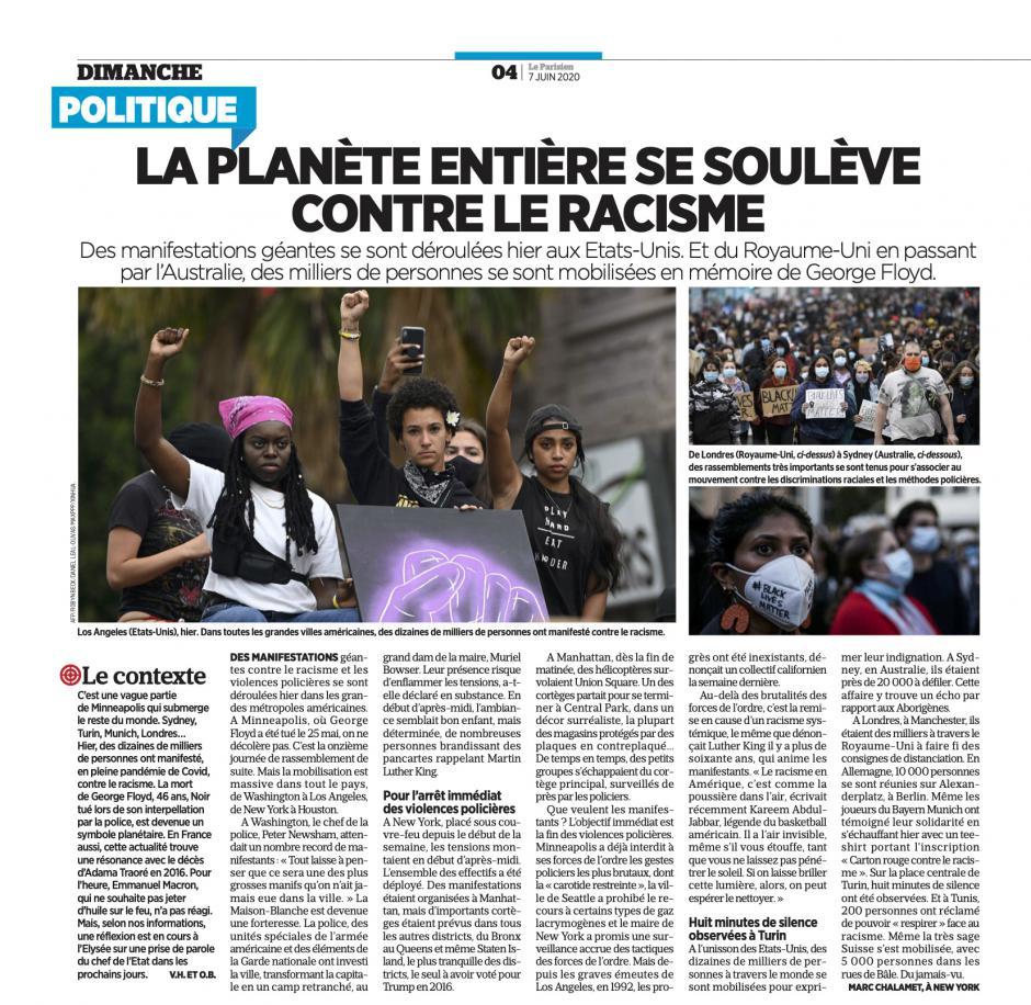20200607-LeP-Monde-La planète entière se soulève contre le racisme