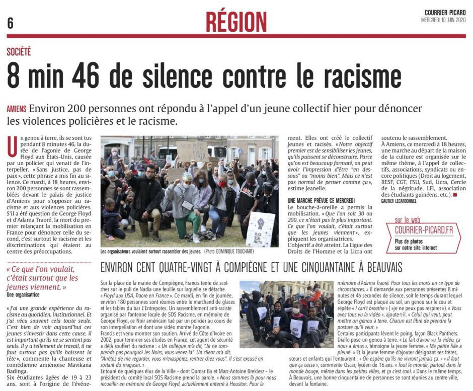 20200610-CP-Picardie-8 min 46 de silence contre le racisme