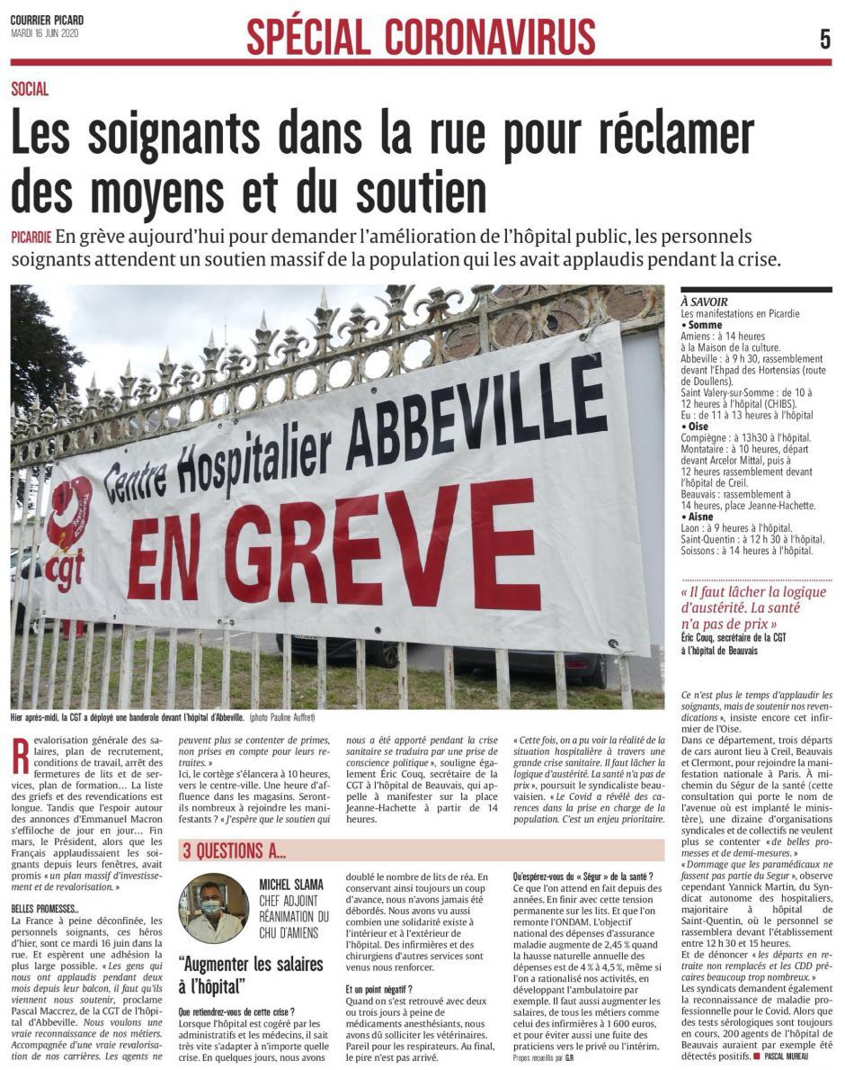 20200616-CP-Picardie-Les soignants dans la rue pour réclamer des moyens et du soutien