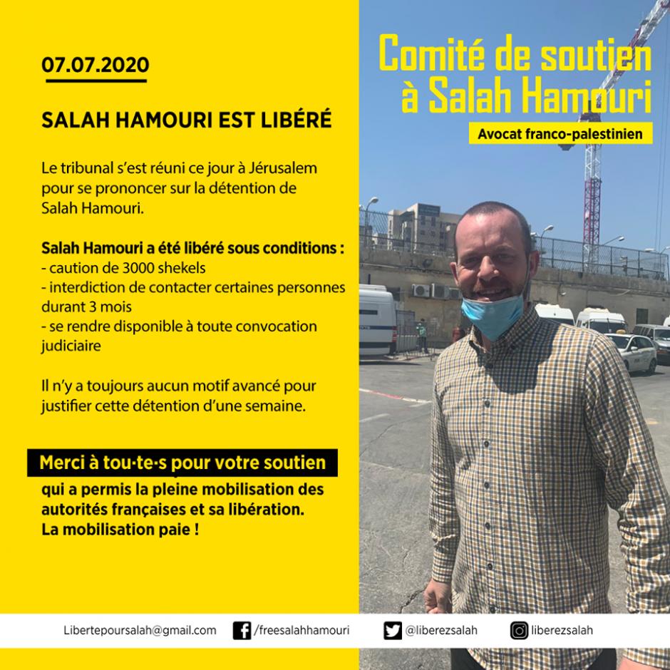 Liberté pour Salah Hamouri ! - Juillet 2020