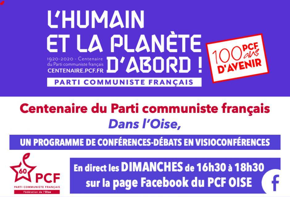 Les dimanches du 22 novembre au 13 décembre - Conférences-débats « Centenaire du PCF » en visioconférences