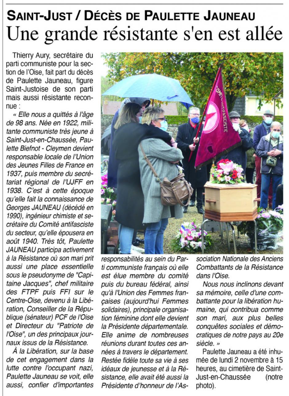 20201104-OH-Oise-Décès de Paulette Jauneau : une grande résistante s'en est allée