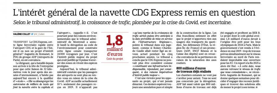 20201112-LeFig-Île-de-France-Oise-L'intérêt général de la navette CDG Express remis en question