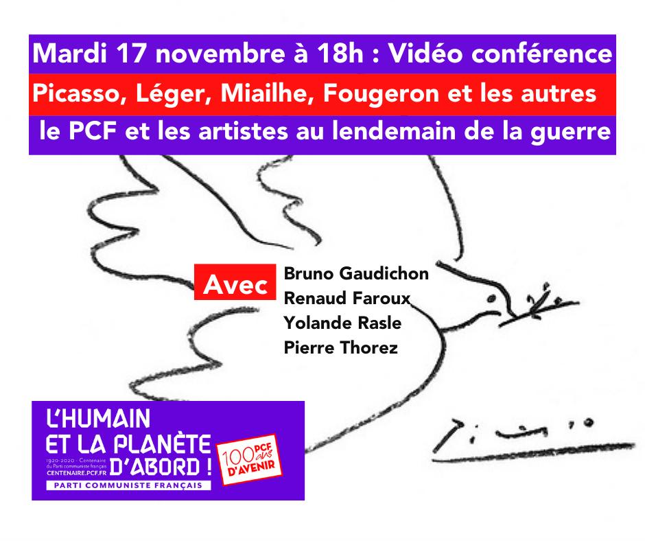 Centenaire du PCF : « Picasso, Léger, Miailhe, Fougeron et les autres : le PCF et les artistes au lendemain de la guerre »