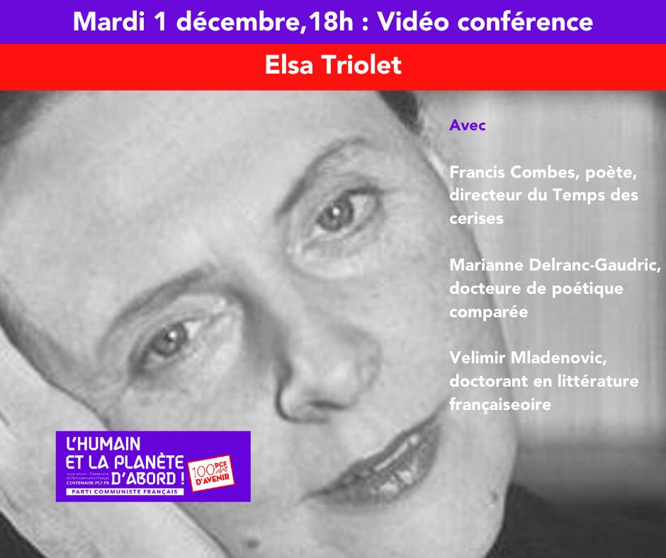 Centenaire du PCF : « Elsa Triolet »