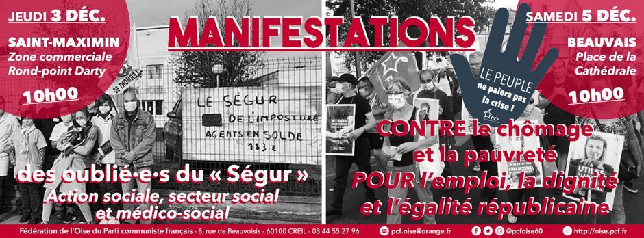 5 décembre, Beauvais - Manifestation contre le chômage et la précarité