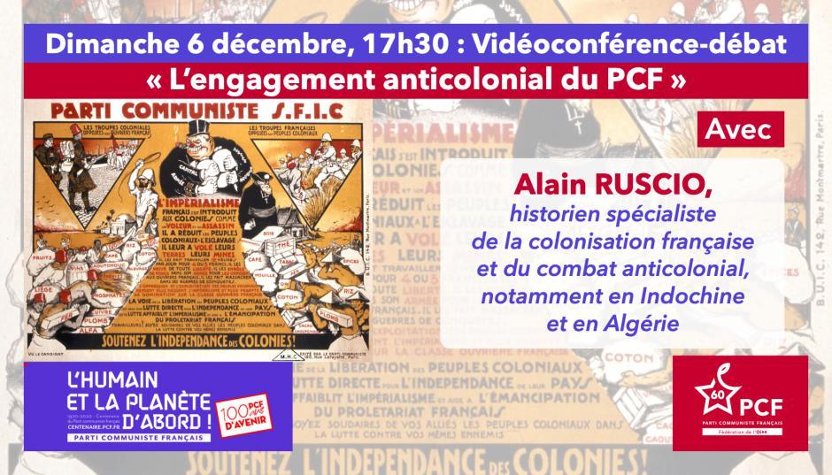 Centenaire du PCF : « L'engagement anticolonial du PCF », avec Alain Ruscio