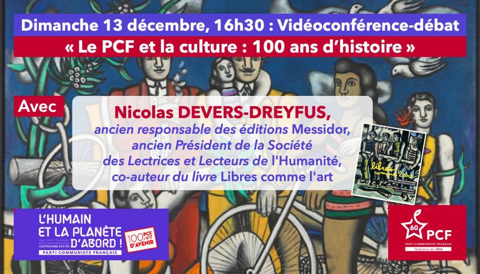 Centenaire du PCF : « Le PCF et la culture : 100 ans d'histoire », avec Nicolas Devers-Dreyfus