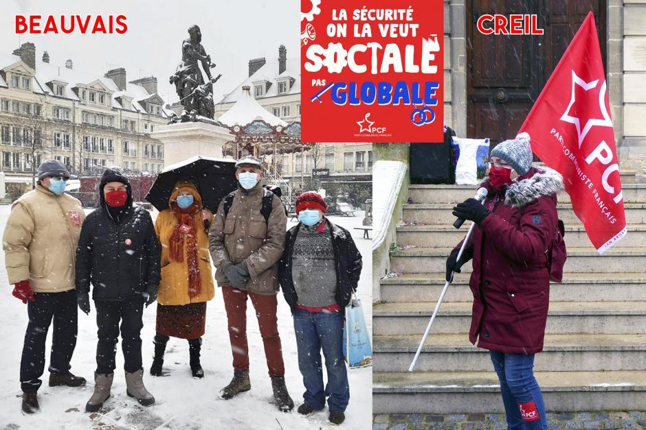 La véritable sécurité pour toutes et tous, c'est d'assurer une sécurité sanitaire et sociale pour toute la population ! - Beauvais & Creil, 16 janvier 2021