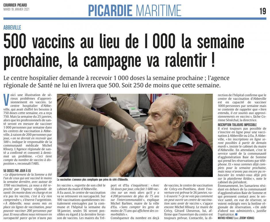 20210119-CP-Abbeville-500 vaccins au lieu de 1 000 la semaine prochaine, la campagne va ralentir !